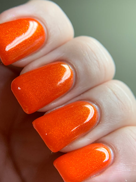 Poppin Poppy - Bright Orange Jelly OGUP Polish