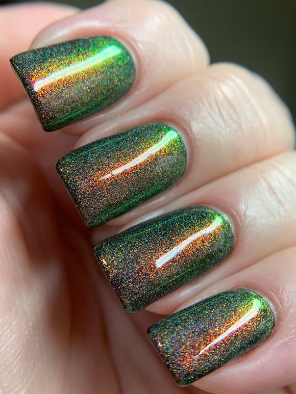 Liquid Disco - Red, Gold, Green with Holo Ultra Dense Topper