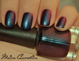 Bourbon & Beer - Blue Red Duochrome Color Shifting Nail Polish