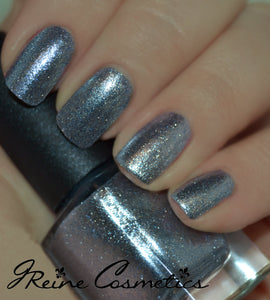 Metal Metropolis - Silver and Blue Metallic Nail Polish
