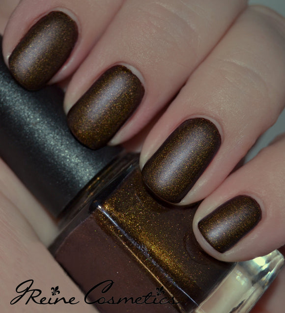 Dirty Dirty - Golden Brown Matte Nail Polish