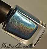 Down South - Holo Aqua Blue Linear Holographic Nail Polish