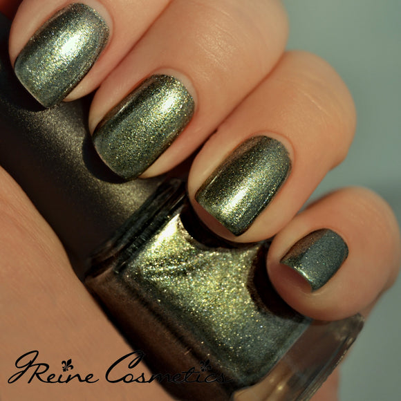 Ego Trip - Golden Green Blue Duochrome Shimmer Nail Polish