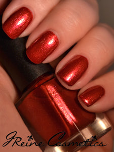 Lady Boss - Red Shimmer Sparkle Nail Polish