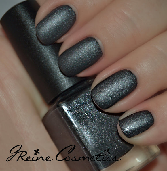 Smoke - Grey Sparkle Matte Nail Polish