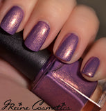St Aug Shuffle - Purple and Gold Shimmer Nail Polish