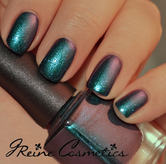 Zydeco - Blue Green Red Duochrome Sparkle Nail Polish