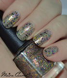King Cake - Purple, Green and Gold Glitter Nail Polish
