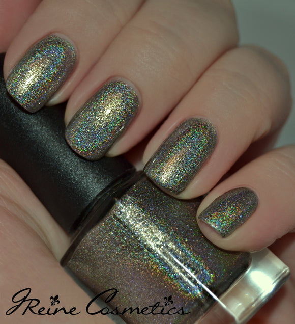 Downtown At Dusk - Grey Metallic Holographic Nail Polish