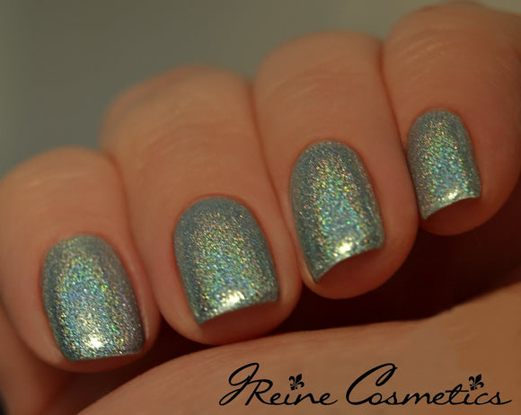 Du Vieux - Light Blue Green Metallic Holographic Nail Polish