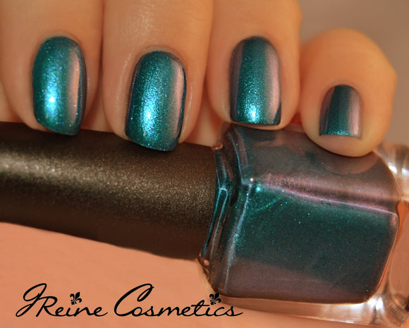 Tales Of Treme - Blue Green Red duochrome Sparkle Nail Polish