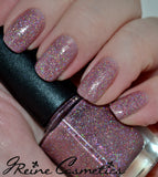 Pink Lady - Pink and Holographic Glitter Nail Polish