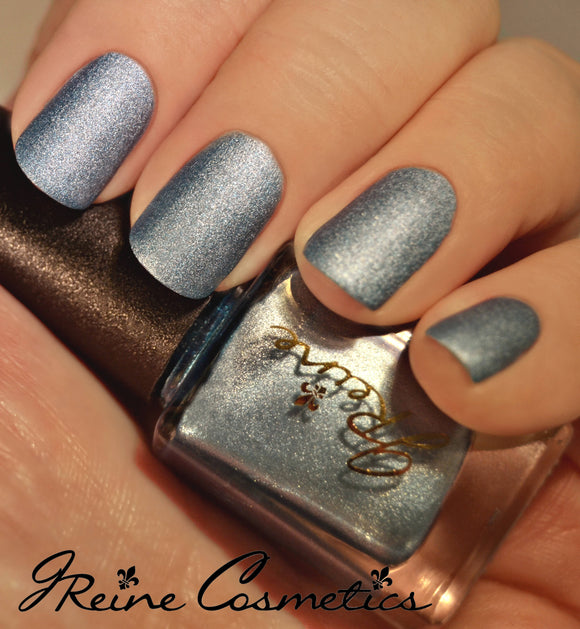 Iced Metal - Blue Metallic Matte Nail Polish