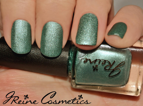 Sea Metal - Green Metallic Matte Nail Polish