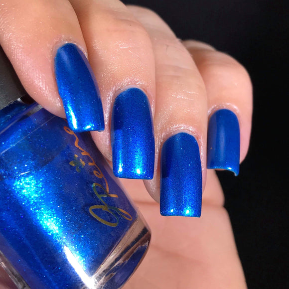 Sexy Sapphire - Sapphire Blue with Blue Sparkle Nail Polish