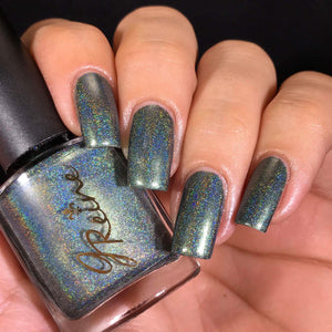 Hollygrove Hustle - Dark Green Holographic Nail Polish