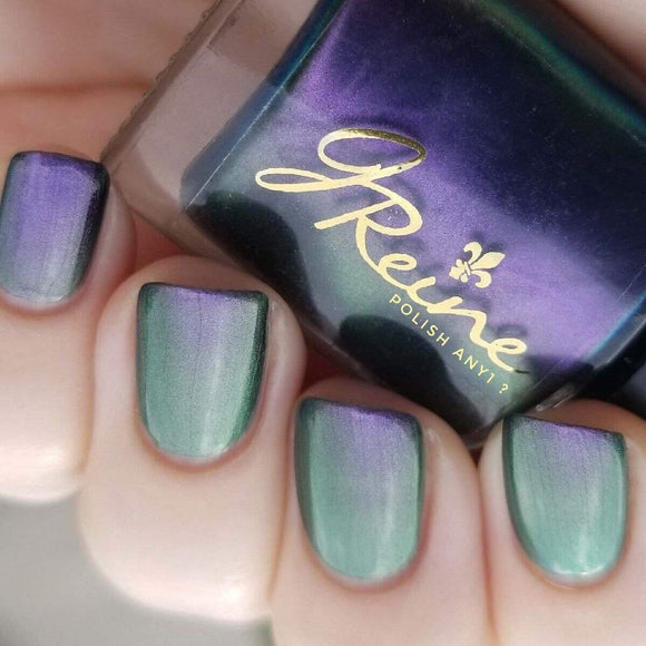 Rebirth - Purple Blue Green duochrome Color Shifting Nail Polish