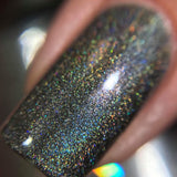 Shades Of Grey - Holo Grey Black Holographic Nail Polish