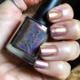 Calliope - Mega Ultra Multichrome Holographic Nail Polish Red Gold Orange