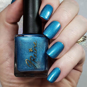 Bourbon Blues - Turquoise Blue Holographic Nail Polish