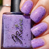 Bash at Bacchus - Purple Crelly Flakie Nail Polish