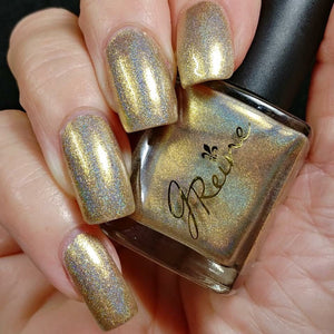 Goldschlager - Metallic Gold Holographic Nail Polish