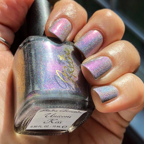Unicorn Kiss - Ultra Multichrome Holographic Nail Polish Blue Green Purple Red