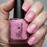 Fulton in Pink - Pink flakie crelly nail polish