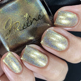 Goldschlager - metallic gold mega holographic Nail Polish