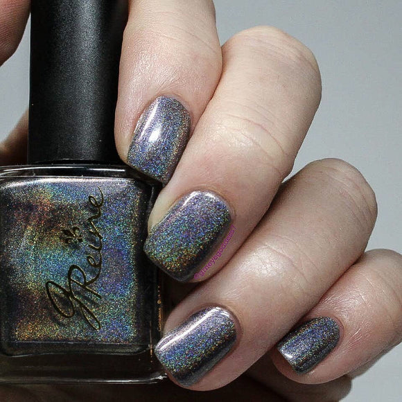 My Cher - Purple Blue Gray Multichrome Holographic Shifting Nail Polish