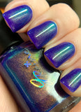 Kind - Violet jelly with Gold/Green Sister UP polish