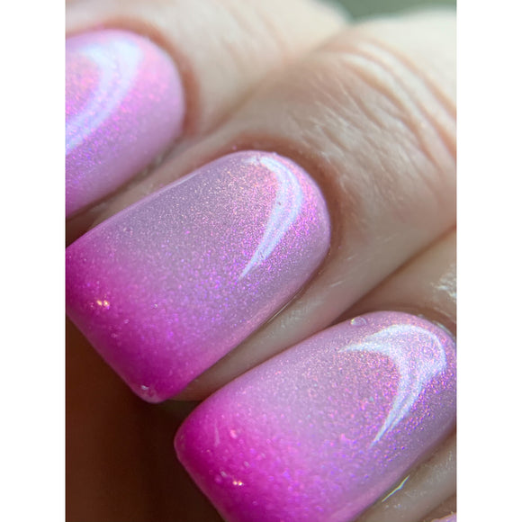 Once upon a dream - Pink to clear thermal that shifts purple/blue
