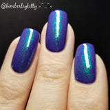 Swimming with da fishes - Sister Up & Flakie Color Shifting Topper Nail Polish