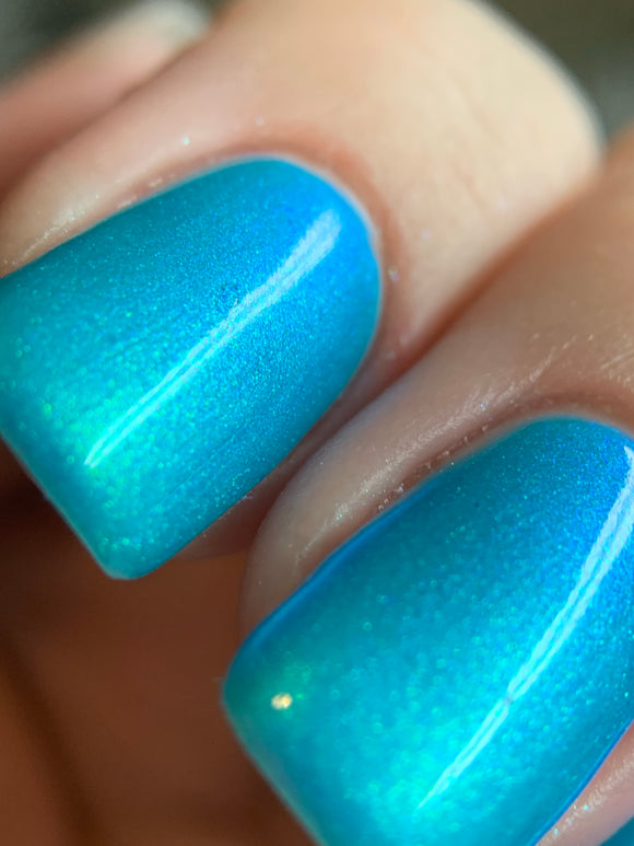 Ice Queen - Icy blue shifting shimmer polish
