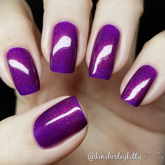 Party Gras REVAMP - Purple OGUP Holo Polish MORE UP!