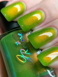 Piercing Peridot - Lime Green Jelly OGUP Polish