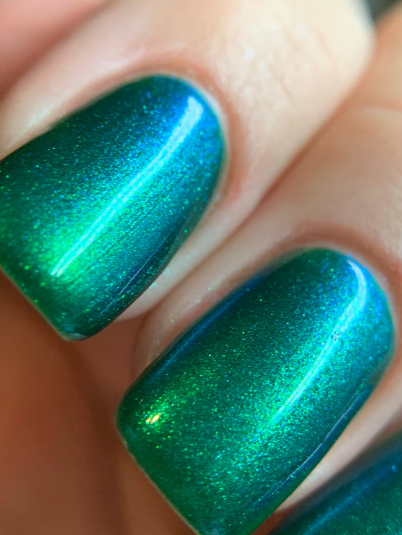 Almost There - Emerald green shifting polish