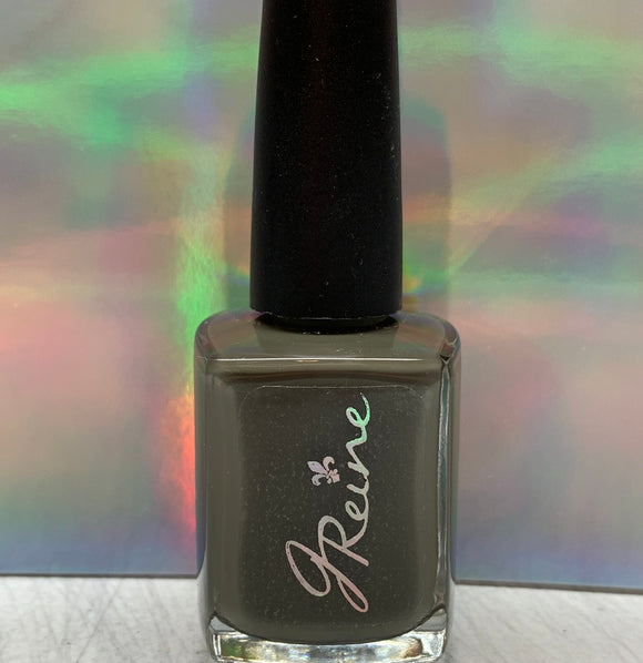 Olive - One Coat Olive Green Cream Nail Polish