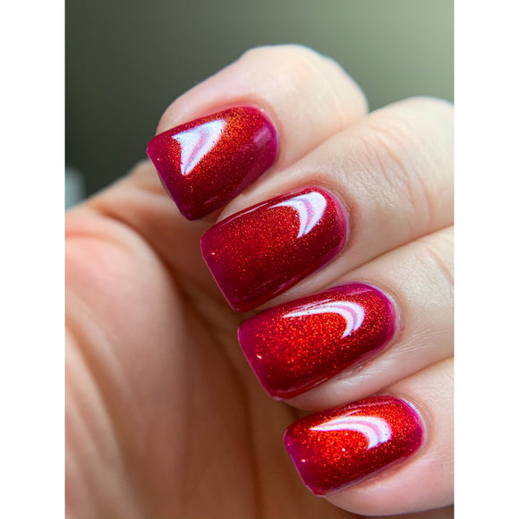 Lessons not regrets - Magenta/red OGUP polish