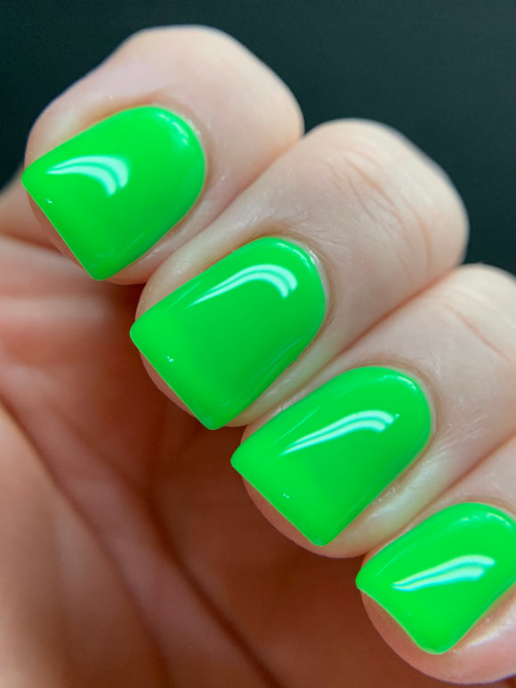 Lime Jelly - Neon Jelly Collection Neon Green Jelly Nail Polish