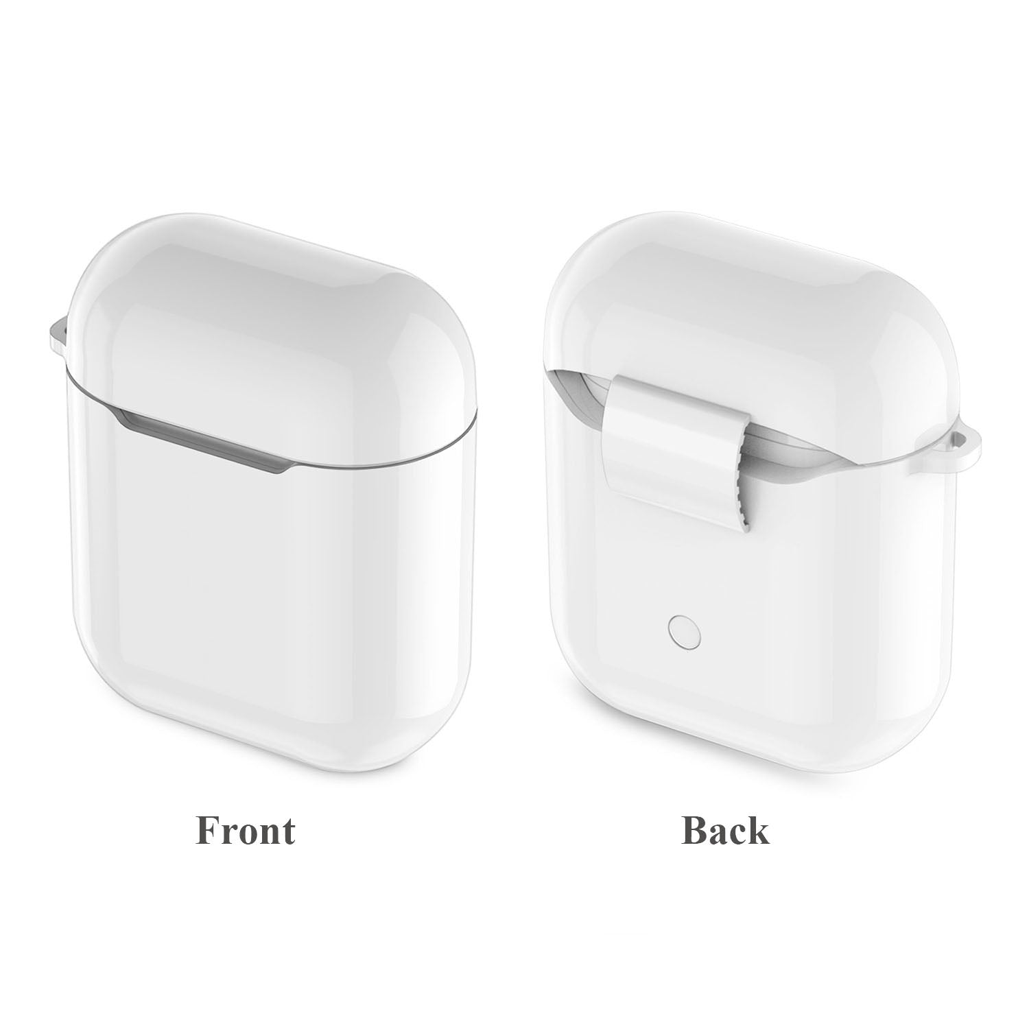 on sale ebc03 87570 Wireless Carrying Case for Apple AirPods Charging Case,Protective Case  Compatible with QI Wireless Charger by Leakind