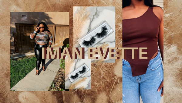 Iman Evette eyelashes, clothing and accessories main page.
