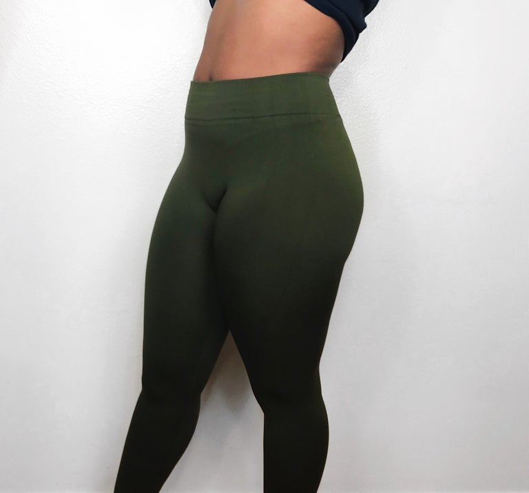 Baesic Olive High Waisted Leggings