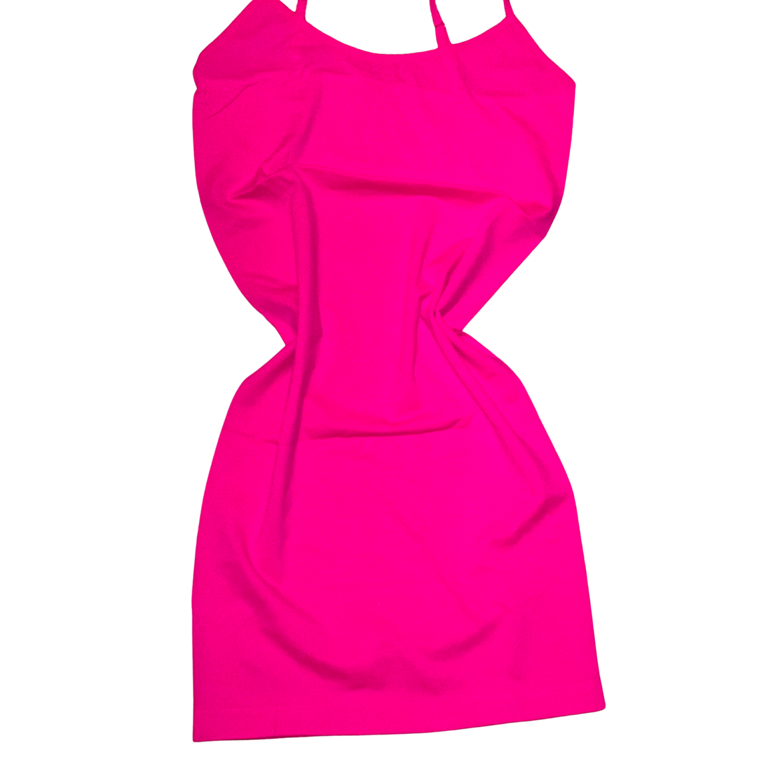 Bella Neon Pink Cami Dress