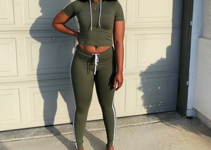 Set It Off Two Piece Olive Set