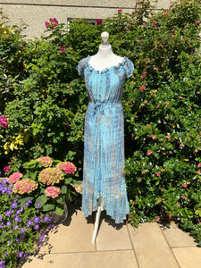 Nell - Tie Dye Dress - Pale Delphinium