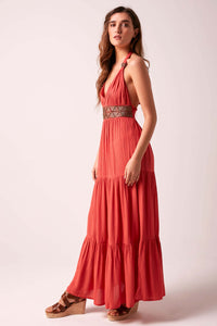 Glorious Goddess Maxi Dress - Terracotta