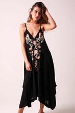 Fleur Embroidered Handkerchief Hem Dress