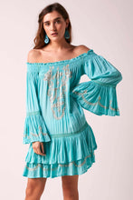 Angelica Sequin Dress - Turquoise