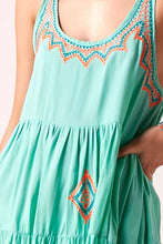 Backless Baby Doll Dress Aqua
